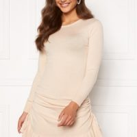 BUBBLEROOM Elna knitted dress Cream S
