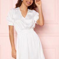 BUBBLEROOM Mayra Puff Sleeve Dress White 34