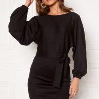 BUBBLEROOM Shannon knitted dress Black XS