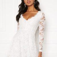 BUBBLEROOM Shione lace dress White XXS