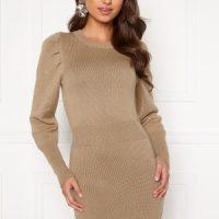 BUBBLEROOM Tua knitted dress Dark beige S