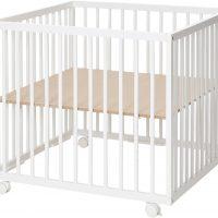 BabyDan Comfort Lekegrind 80x80x73 cm, Hvit