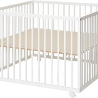 BabyDan Comfort Lekegrind 99x99x73 cm, Hvit