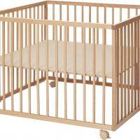 BabyDan Comfort Lekegrind 99x99x73 cm, Natur