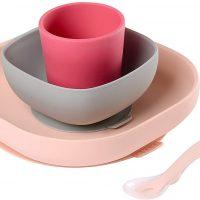 Béaba Servise Silikon 4-pack, Pink