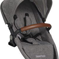 Beemoo Maxi Travel Lux II Søskensete, Black/Grey Melange
