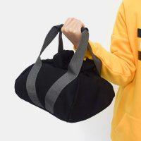 Black Fitness Exercise Weightlifting Sandbags Adjustable Portable Yoga Fitness Training Dumbbell Sandbag