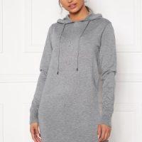 Blue Vanilla Knitted Jumper Dress With Hood Grey L (UK14)