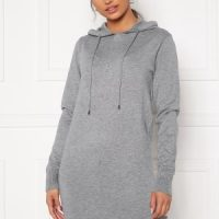Blue Vanilla Knitted Jumper Dress With Hood Grey S (UK10)