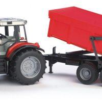Bruder Massey Ferguson 7480 Traktor Med Tilhenger