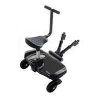 Bumprider Standing Board with Seat Black/Grey One Size