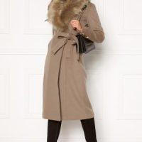 Chiara Forthi Amber Long Coat Nougat 42