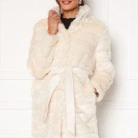 Chiara Forthi Bologna Faux Fur Coat Ivory white S