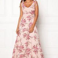 Chiara Forthi Cherie tie dress Light pink / Floral 38