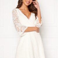 Chiara Forthi Heaven wrap lace dress White 40