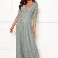 Chiara Forthi Riveria Lace Gown Green 40