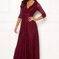 Chiara Forthi Riveria Lace Gown Wine-red 40