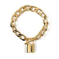 Chunky Clean Padlock T-Bar Bracelet