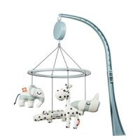 Done by Deer Musical Mirror Mobile Sleepy Blue One Size