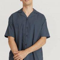 Dr.Denim Kortermet skjorte Madi Shirt Brun