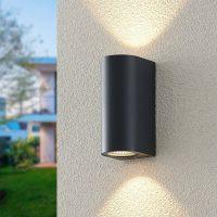 ELC Latika utendørs LED-vegglampe, antrasitt
