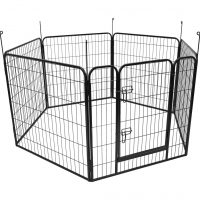FLAMINGO Hundegård Zecta 162x140x80 cm svart