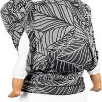 Fidella Fly Tai Bæresjal Baby Dancing Leaves, Black&White