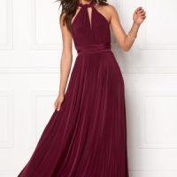 Goddiva Multi Tie Maxi Dress Berry M (UK12)