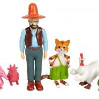 Gubben og Katten Figurer 6-pack