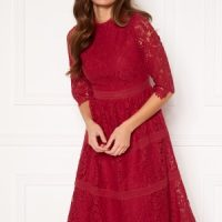 Happy Holly Madison lace dress Red 36