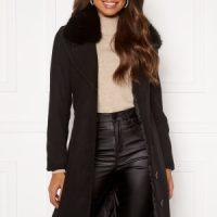 Happy Holly Mariah wool blend coat Black 48