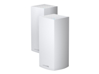Linksys VELOP Whole Home Mesh Wi-Fi System MX8400 - Trådløs ruter - 3-portssvitsj - GigE - 802.11a/b/g/n/ac/ax - Trippelbånd (en pakke 2)