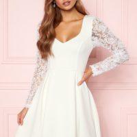 Moments New York Clara Scuba Dress White 34