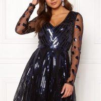 Moments New York Dana Beaded Dress Black 34