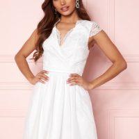 Moments New York Prudence Mesh Dress White 32