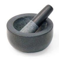 Morter svart granitt medium