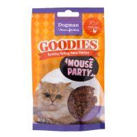 Mouse party til katt - godbiter med kylling