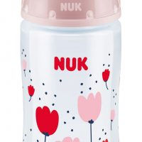 NUK First Choice+ 300 ml Tåteflaske, Rosa