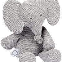 Nattou Tembo Kosedyr Elefant Strikket Grå