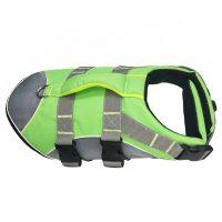 Neongrønn flytevest for hund