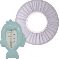 Oopsy Showercap & Badetermometer, Blå