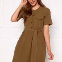 Pieces Minda SS Dress Camp Kangaroo XS