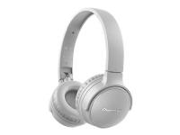 Pioneer S3 Wireless - Hodetelefoner med mikrofon - on-ear - Bluetooth - trådløs - grå
