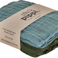 Pippi Organic Musselinteppe 4-pack, Lead