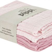 Pippi Organic Musselinteppe 4-pack, Shrinking Violet