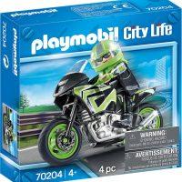 Playmobil 70204 Motorsykkel Med Fører