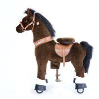 PonyCycle Ride-On Hest Premium, Mørkebrun