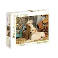 Puslespill 1500 Hunting Dogs Clementoni