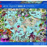 Puslespill 2000 Quirky World Heye