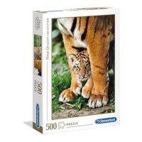 Puslespill 500 Bengal Tiger Cub Between Its Mother